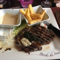 Lovely entrecôte with roquefort sauce