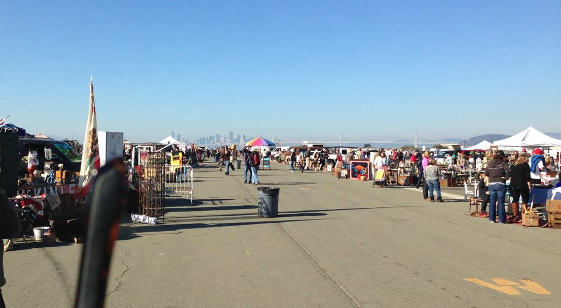 the other view is of the San Francisco skyline.  (Note the lettering on the runway)