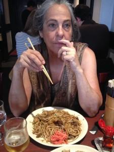 Yaki udon, and Yaki soba menu that includes gyoza